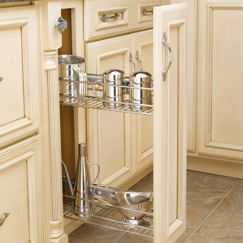 Rev-A-Shelf 548 Pull-Out Organizer 6 inch Chrome 548-06CR