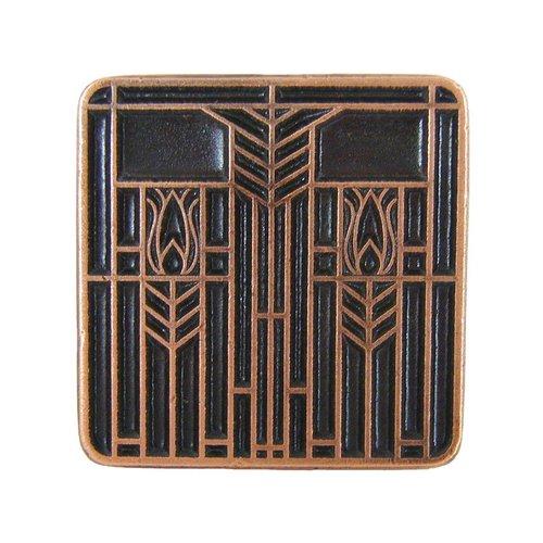 Notting Hill Arts & Crafts 1-1/4 Inch Diameter Antique Copper Cabinet Knob NHK-117-AC
