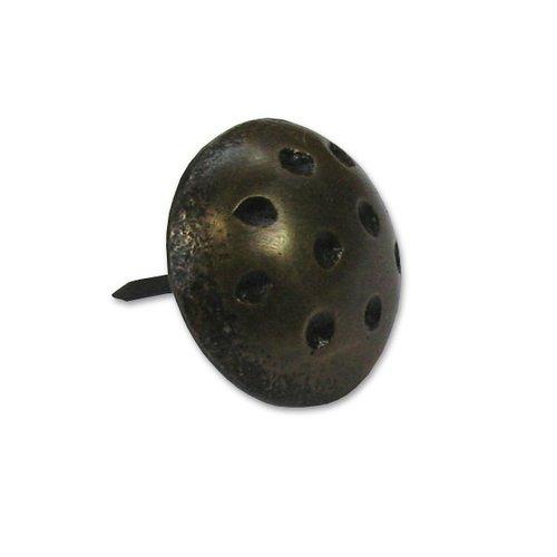 "Gado Gado Medium-Large Dimpled Round Clavo 7/8"" Dia - Antique Brass HCL1122"