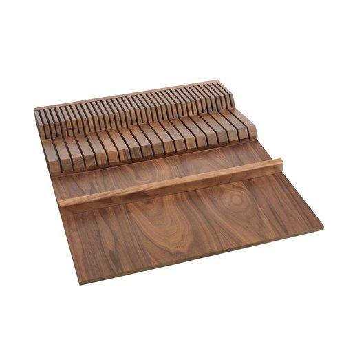 Rev A Shelf Double Knife Block Insert 18 1 2 Inch W Walnut