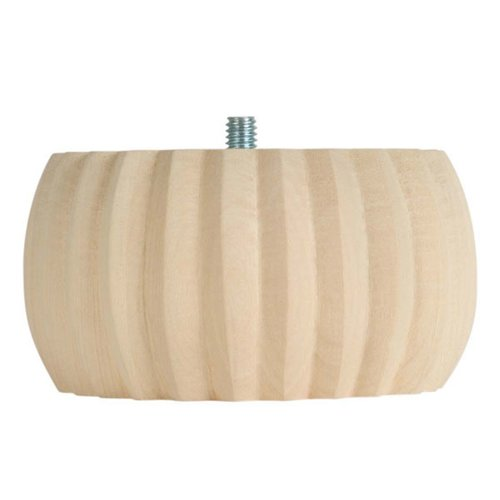 "Reeded Bun Bun Foot 2"" H-Hardwood <small>(#BF2747-H)</small>"