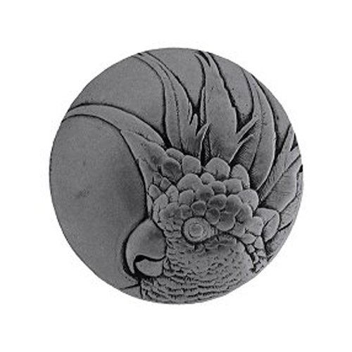 Tropical 2 Inch Diameter Brilliant Pewter Cabinet Knob <small>(#NHK-327-BP-R)</small>