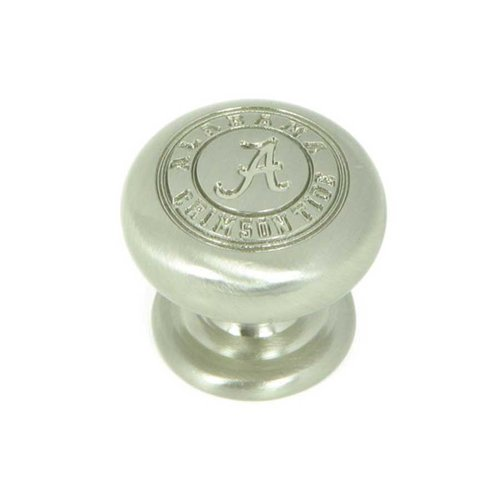 Stone Mill Hardware Collegiate 1-1/4 Inch Diameter Satin Nickel Cabinet Knob CL82980-SN-ALA