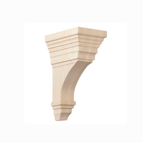 Brown Wood Medium Arts & Crafts Corbel Unfinished Hard Maple 01607011HM1