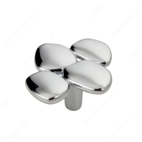 Richelieu Art Deco 1-15/16 Inch Diameter Chrome Cabinet Knob 256049140