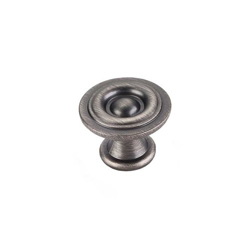 Elements by Hardware Resources Syracuse 1-3/16 Inch Diameter Brushed Pewter Cabinet Knob 575BNBDL