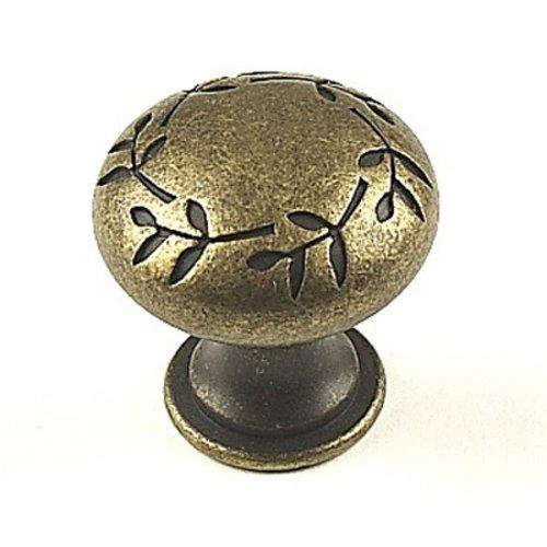 Century Hardware Hamilton 1-3/16 Inch Diameter Antique Bronze Cabinet Knob 28605-3B