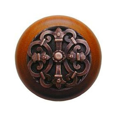 Notting Hill Olde World 1-1/2 Inch Diameter Antique Copper Cabinet Knob NHW-776C-AC