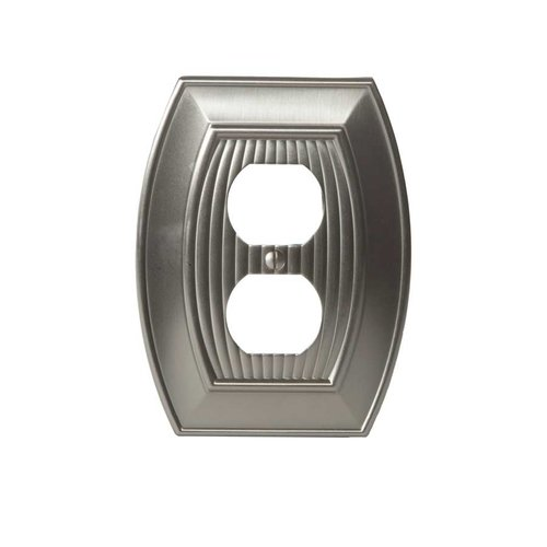 Amerock Allison One Receptacle Wall Plate Satin Nickel BP36536G10