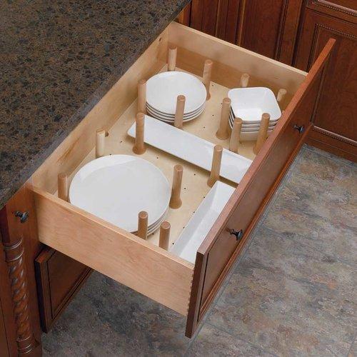 Rev-A-Shelf Large Drawer Peg System-Wood 4DPS-3921