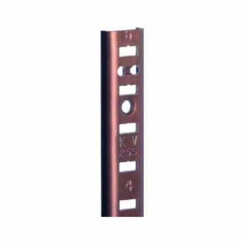 "Knape and Vogt KV #255 Aluminum Pilaster Strip Walnut 72"" 255AL WAL 72"