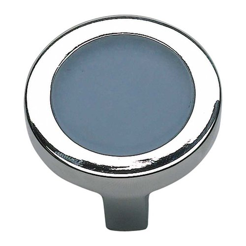 Atlas Homewares Spa 1-1/4 Inch Diameter Polished Chrome Cabinet Knob 229-BLU-CH