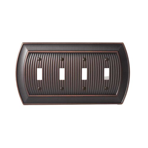 Amerock Allison Four Toggle Wall Plate Oil Rubbed Bronze BP36531ORB