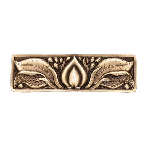 Notting Hill Hope Blossom 3 Inch Center to Center Antique Brass Cabinet Pull NHP-681-AB