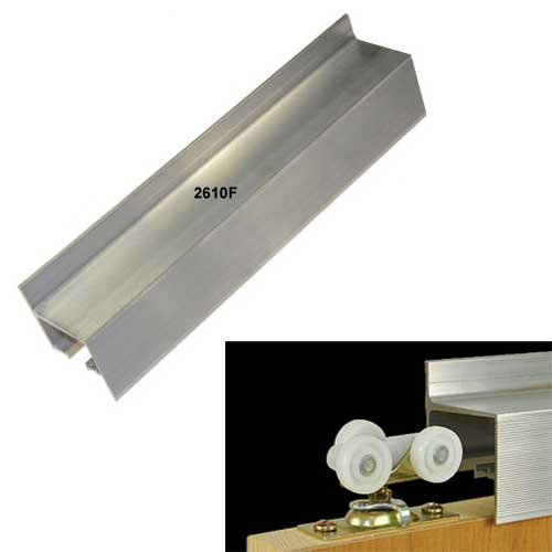 "Johnson Hardware 96"" Wall Mount Fascia Single Door Track-Aluminum 2610F096"