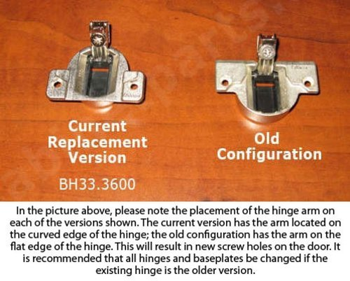 Blum Compact 33 Face Frame Hinge 110 Degree/Dowel 33.3630