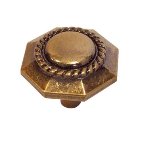 Hickory Hardware Ravel 1-3/16 Inch Diameter Antique Rose Gold Cabinet Knob P3453-ARG