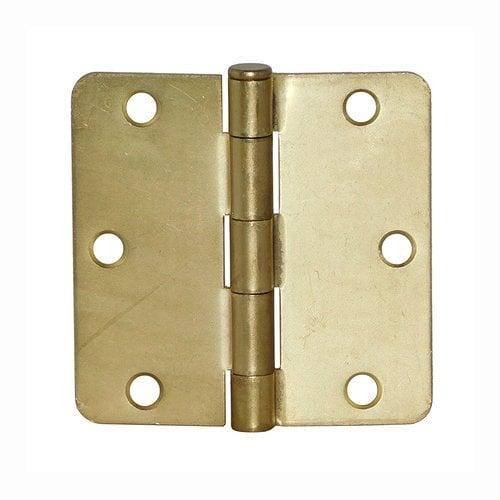 """Don-Jo 5/8"""" Radius Door Hinge 4"""" X 4"""" Satin Brass RPB74040-58-633"""