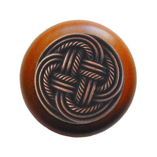 Notting Hill Classic 1-1/2 Inch Diameter Antique Copper Cabinet Knob NHW-739C-AC