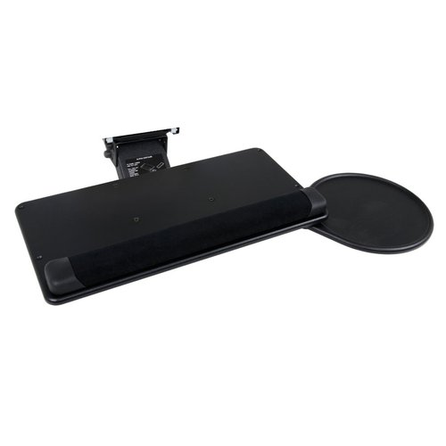 "Keyboard/Slide-Out Mouse Tray Eclipse Arm 18-1/2"" W-Black <small>(#FRKSTKS938BK)</small>"