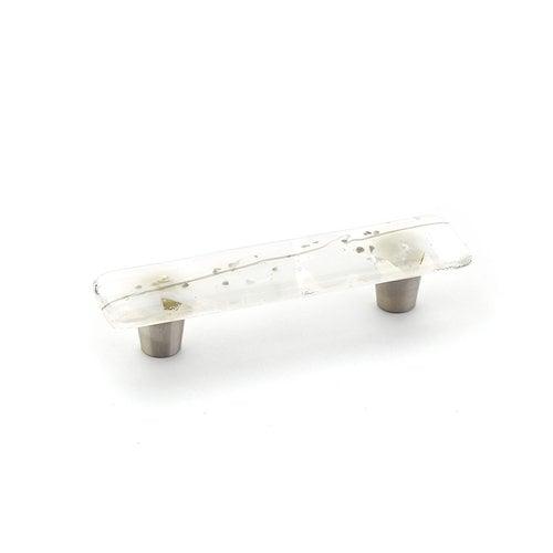 Schaub and Company Ice 3 Inch Center to Center White/Grey Confetti Cabinet Pull 30-CWG