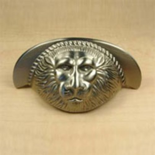 Roman 3 Inch Center to Center Matte Satin Nickel Cabinet Cup Pull <small>(#19343-MSN)</small>
