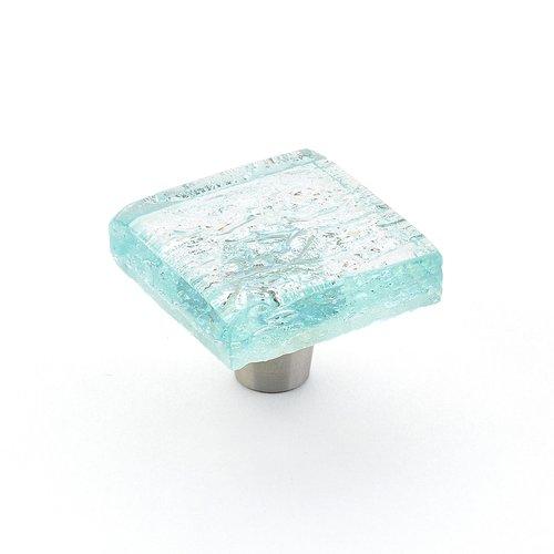 Schaub and Company Ice 1-1/2 Inch Diameter Aqua Pearl Cabinet Knob 34-PAQ
