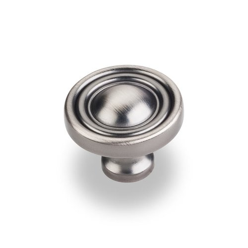 Jeffrey Alexander Bella 1-3/8 Inch Diameter Bright Nickel Brushed with Dull Lacquer Cabinet Knob 818BNBDL