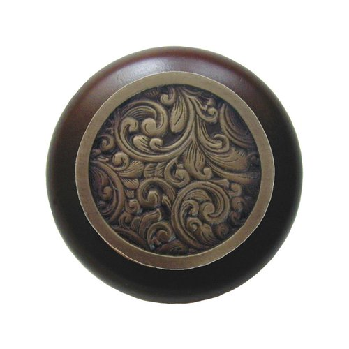 Notting Hill Classic 1-1/2 Inch Diameter Antique Brass Cabinet Knob NHW-759W-AB