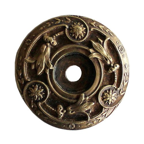 Notting Hill Jewel 1-5/16 Inch Diameter Antique Brass Back-plate NHE-561-AB