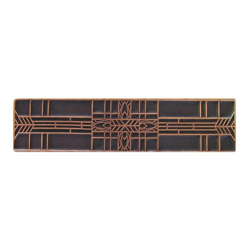 Notting Hill Arts & Crafts 3 Inch Center to Center Antique Copper Cabinet Pull NHP-617-AC