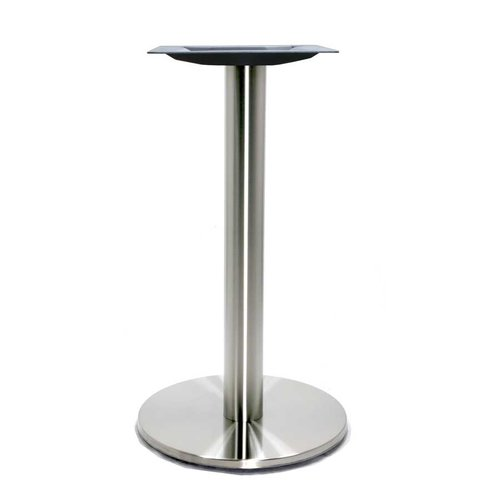 Peter Meier 17 inch Round Table Base - Stainless Steel 28-5/8 inch H 4017-28-SS