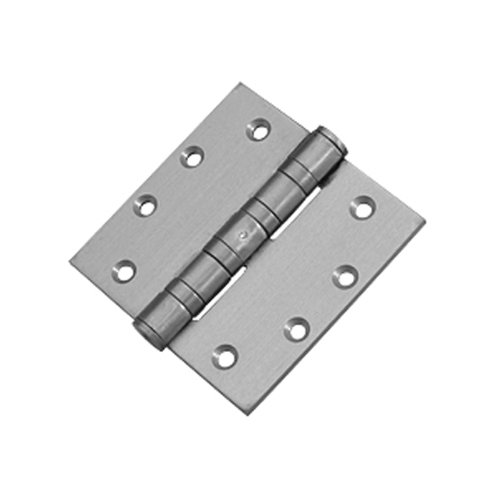 Mort. Heavy Ball Bearing Hinge 5 inch x 4-1/2 inch Satin Chrome <small>(#HWBB75045-652)</small>