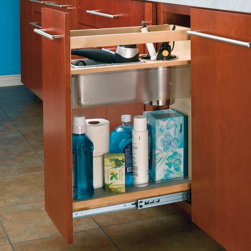 Rev-A-Shelf 8 inch Base Height Vanity Grooming Center 445-VCG25-8