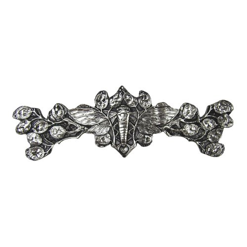 Notting Hill All Creatures 3 Inch Center to Center Brite Nickel Cabinet Pull NHP-620-BN