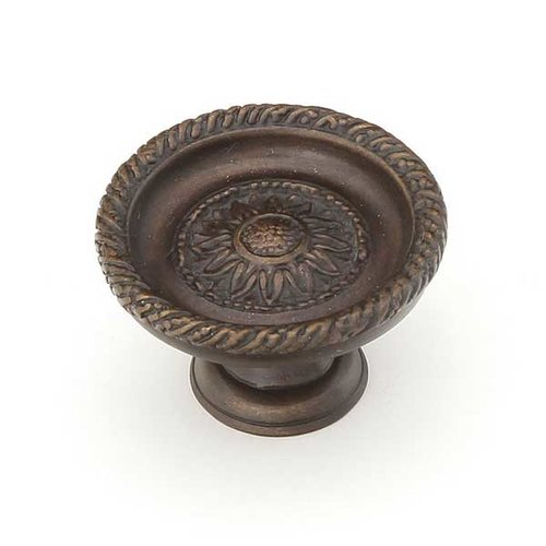 Schaub and Company Sunflower 1-3/4 Inch Diameter Dark Glaze Cabinet Knob 921L-DG