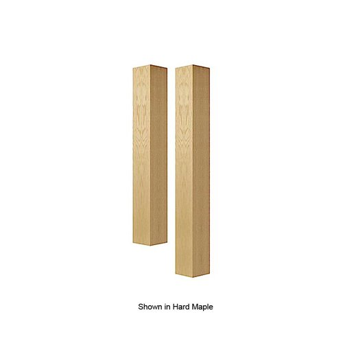 "Brown Wood 6"" Square Bar Column Unfinished Alder 01636010AL1"