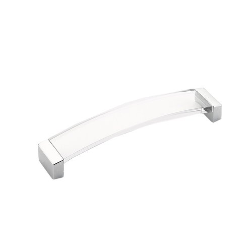 Schaub and Company Positano 8-13/16 Inch Center to Center Polished Chrome/Clear Cabinet Pull 322-26-CL