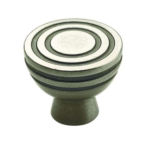 Amerock Sonara Knob 1-1/4 inch Diameter Antique Nickel BP53043AN
