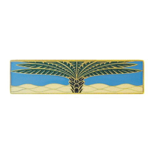 Notting Hill Tropical 3 Inch Center to Center Antique Brass Cabinet Pull NHP-323-AB-C