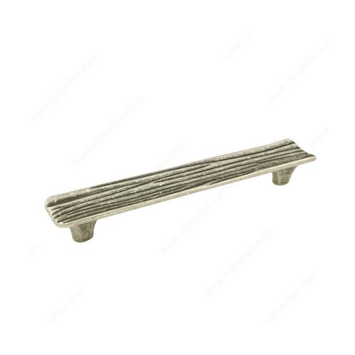 Richelieu Striated 6-5/16 Inch Center to Center Faux Iron Cabinet Pull 159160904