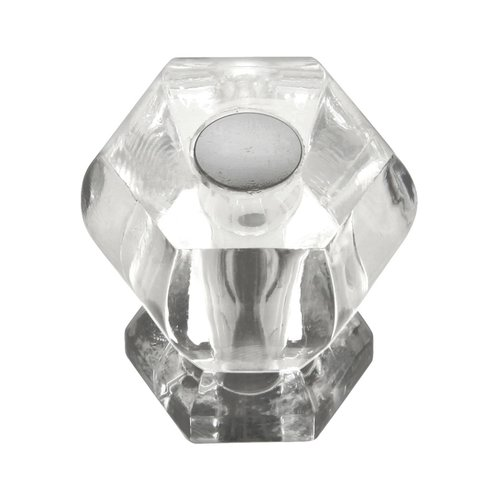 Crystal Palace 1-3/16 Inch Diameter Crystal Acrylic/Bright Nickel Cabinet Knob <small>(#HH74688-CA14)</small>