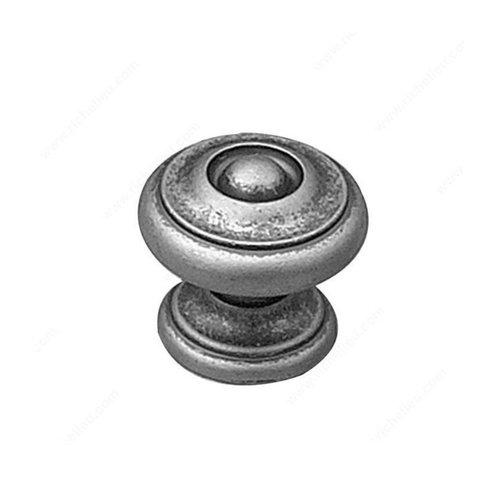 Richelieu Povera 1-3/16 Inch Diameter Pewter Cabinet Knob 8652142