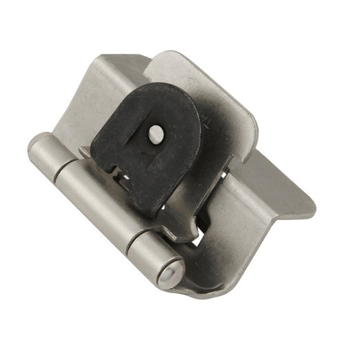 Hickory Hardware Double Demountable 1/2 inch Overlay Hinge Pair Satin Nickel P5310-SN