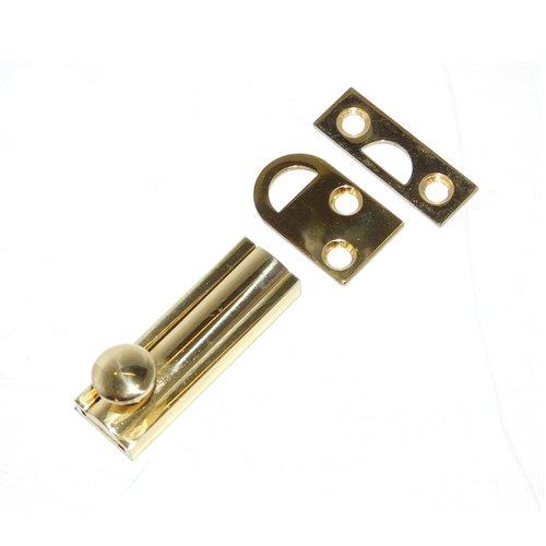 """Don-Jo 12"""" Slide Bolt Bright Brass SB-12-605"""