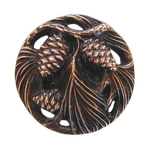 Great Outdoors 1-3/8 Inch Diameter Antique Copper Cabinet Knob <small>(#NHK-138-AC)</small>
