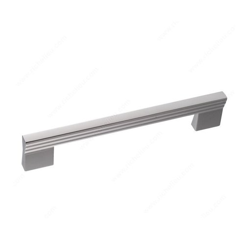 Geometric 6-5/16 Inch Center to Center Chrome Cabinet Pull <small>(#21690160140)</small>