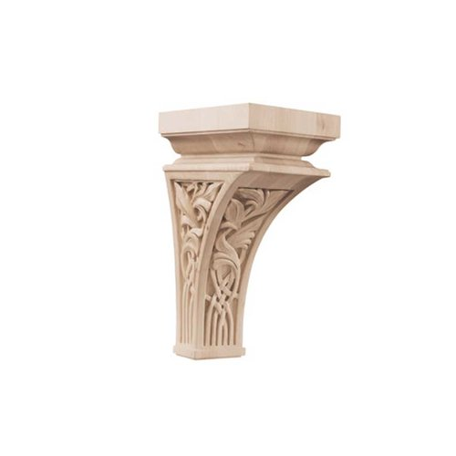 Brown Wood Nouveau Large Corbel Unfinished Hard Maple 01601457HM1