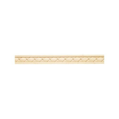Hafele Cottage Carved Molding 2 inch x 1/2 inch x 96 inch Maple 198.10.100