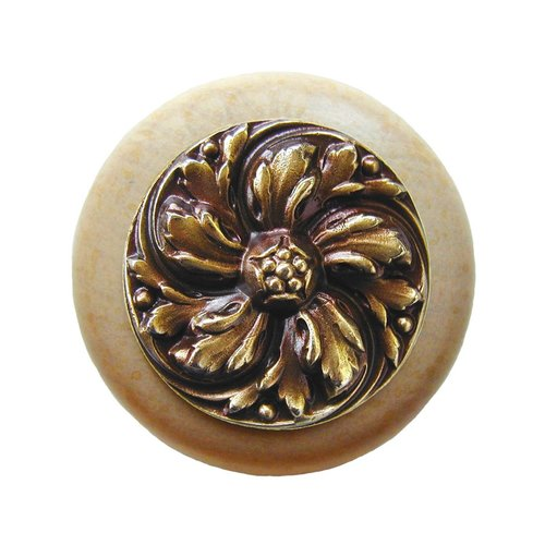 Notting Hill English Garden 1-1/2 Inch Diameter Antique Brass Cabinet Knob NHW-714N-AB